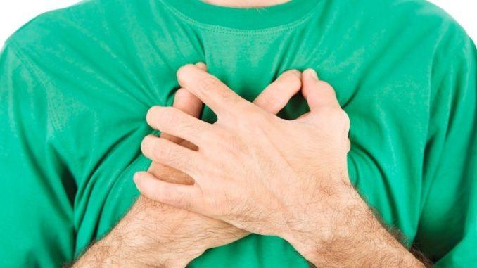 Боль в грудной области - средостении